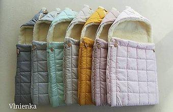Textil - RUNO SHOP fusak pre deti do kočíka 100% ovčie runo MERINO TOP super wash ELEGANT Rainbow - 9879471_