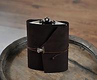 Papiernictvo - kombinovaný kožený zápisník- skicár OLD FIREHAND - 9879032_