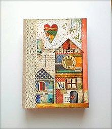 Papiernictvo - Ručne šitý sketchbook * diár * zápisník A5 - 9878274_