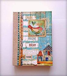 Papiernictvo - Ručne šitý sketchbook * diár * zápisník A5 - 9878322_