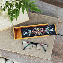 Taštičky - Ručne maľovaný peračník s kvetmi - 9877993_
