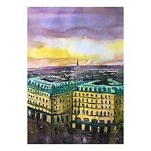 Obrazy - Paríž - originálny obraz - 9877712_