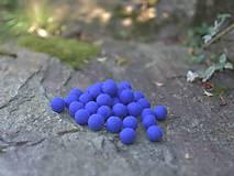 Materiál ručne robený - Plstené guličky modré 10 ks - 9877903_