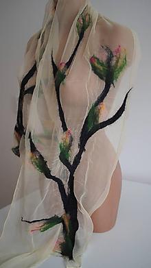 Šály - větvičky magnolie - 9877424_