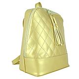 Zlatý dámsky ruksak zo syntetickej kože