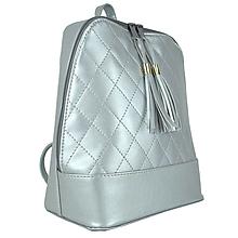 Batohy - Strieborný dámsky ruksak zo syntetickej kože - 9878565_