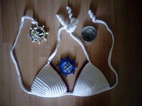 Bielizeň/Plavky - Hackovany horny diel plaviek - 9811088_