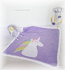 Textil - Detská deka JEDNOROŽEC - 9877980_