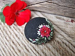 Odznaky/Brošne - Brošňa s kvetinovým motívom - 9878880_