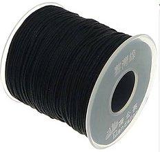 Galantéria - SN101 Lesklá šnúrka 1 mm / cena za 1 m (Čierna) - 9876940_