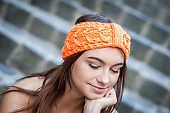 Ozdoby do vlasov - Neonovy set, oranžový, vypletana - 9879608_