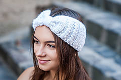 Ozdoby do vlasov - biela osmičková čelenka - 9879787_