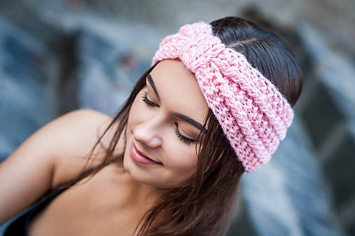 Ozdoby do vlasov - Cukríkovoružová pastelová čelenka - 9879821_