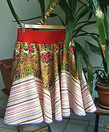 Sukne - Upcyklovaná sukňa ružicky - 9877440_