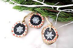 Drevené vianočné ozdoby -sada 3 ks