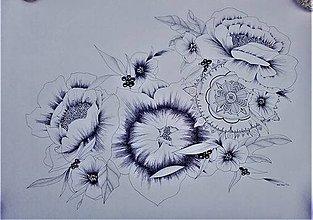 Kresby - mandala v kvetoch - 9876881_