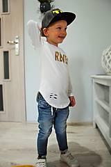 - Predĺžené tričko biele - RVL (116) - 9880386_