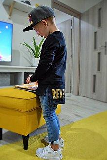Detské oblečenie - Mikina predĺžená čierna - Revel - 9880392_