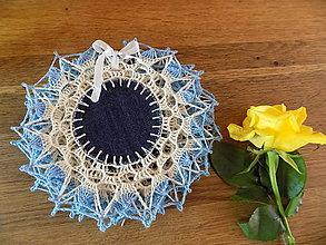 Úžitkový textil - sada podložiek do kuchyne modrá - 9878269_