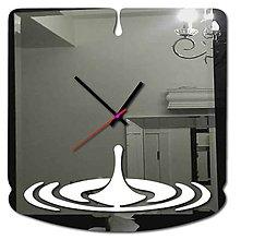 Hodiny - Moderné nástenné hodiny-Slza X0046 (Ružová) - 9878605_