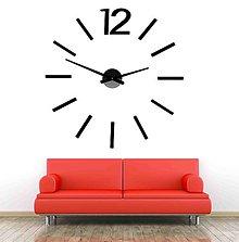 Hodiny - Elegantné hodiny na stěnu - WHITE X0081 plast bez EVA peny (Modrá) - 9878784_