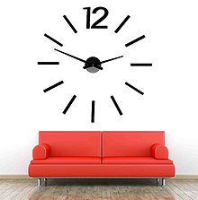 Hodiny - Elegantné hodiny na stěnu - WHITE X0081 plast bez EVA peny (Zlatá) - 9878784_