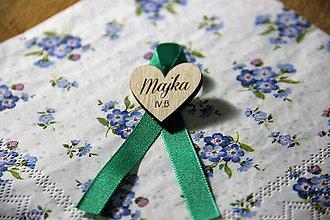 Odznaky/Brošne - Maturitná stužka srdce - 9880364_
