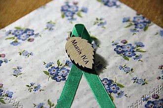 Odznaky/Brošne - Maturitná stužka list - 9880377_