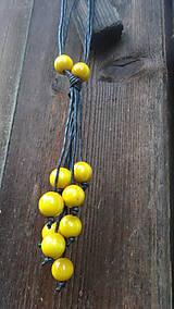 Náhrdelníky - 8+2 v žltej - 9878693_