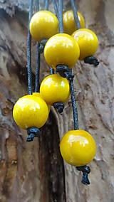 Náhrdelníky - 8+2 v žltej - 9878696_