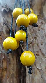 Náhrdelníky - 8+2 v žltej - 9878697_