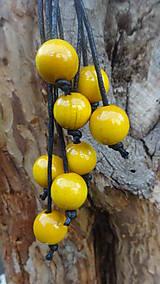 Náhrdelníky - 8+2 v žltej - 9878698_