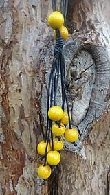 Náhrdelníky - 8+2 v žltej - 9878700_