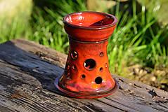 Svietidlá a sviečky - Aromalampa - červená - 9879609_