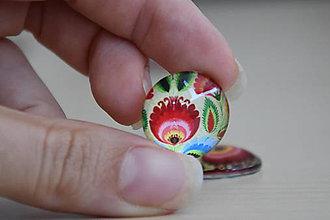 Komponenty - Kabošon sklenený folk béžový 20mm, 0.80€/ks - 9877520_