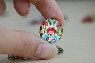 Komponenty - Kabošon sklenený folk béžový 20mm, 0.80€/ks - 9877526_