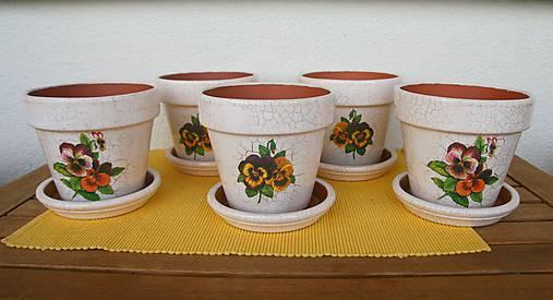 Sada kvetináčov so sirôtkami