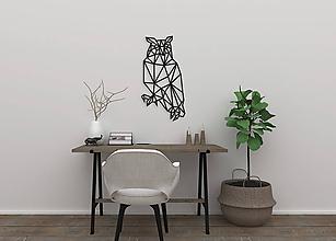 Dekorácie - Magnetická geometrická nástenka / dekorácia OWL - 9881421_