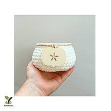 Košíky - Košíček (100% biobavlna) s dreveným jabĺčkom - 9880773_