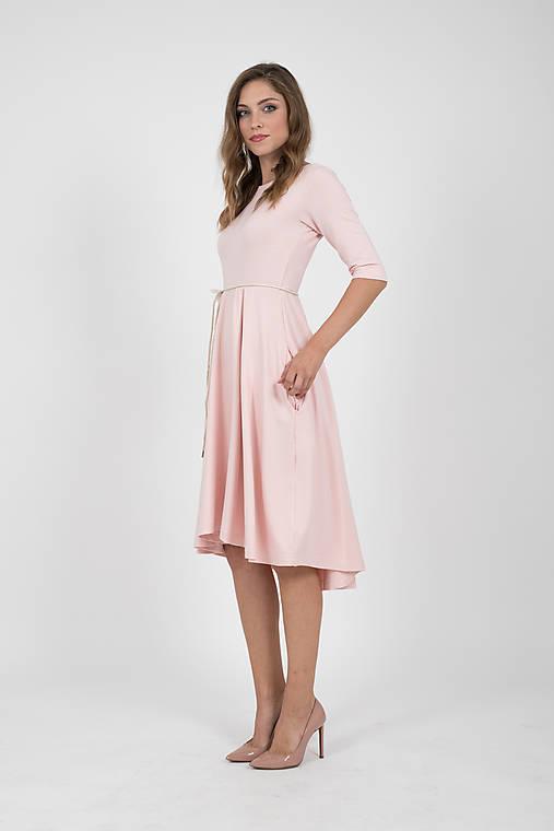 Šaty - MIESTNE ŠATY KLASIK (ružové) - 9881622_