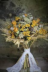 Dekorácie - Sušená kytica - 9881799_