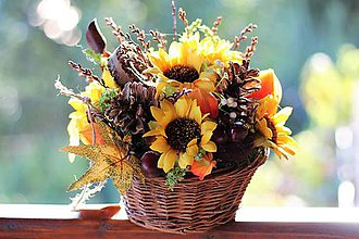 Dekorácie - Jesenný aranžmán - 9880757_