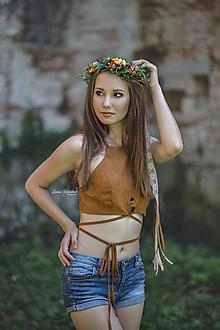 Ozdoby do vlasov - Kvetinový venček jeseň - 9882315_