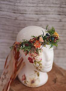 Ozdoby do vlasov - Kvetinový venček jeseň - 9882789_