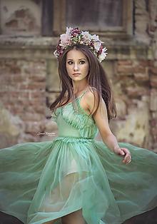 Ozdoby do vlasov - Veľký kvetinový boho venček z kolekcie pre Lydiu Eckhardt - 9882993_