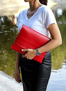 Kabelky - Listová kabelka LARGE RED - 9881587_