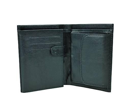 Pánska kožená peňaženka v čiernej farbe