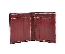 Tašky - Unisex kožené púzdro na doklady, bordová farba - 9882865_