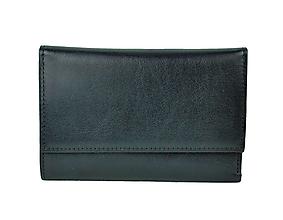 Peňaženky - Elegantná peňaženka z pravej kože v čiernej farbe - 9882893_