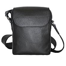 Tašky - Elegantná kožená etuja z hovädzej kože, čierna farba - 9882923_